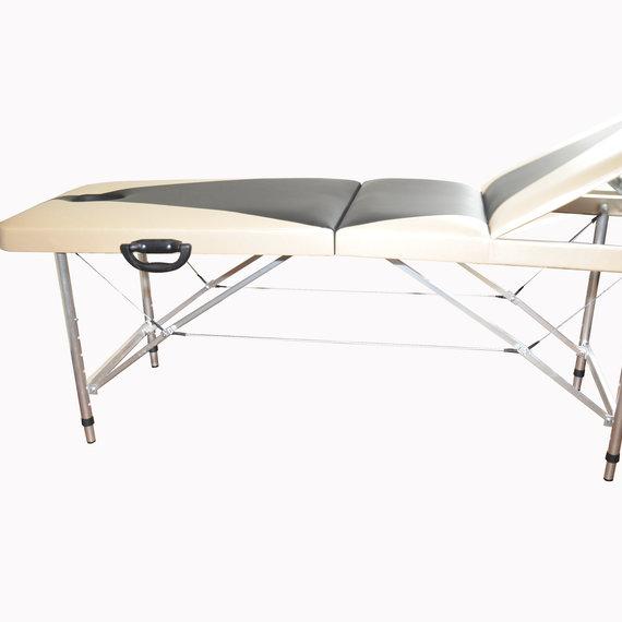 Профи 70+ Складной массажный стол с регулировкой высоты, регулируемой спинкой и отв. для лица