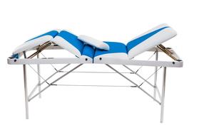 Складной массажный стол Люкс 70/70 с подъемной спинкой и подъёмом ног 4-секционный, без отверстия для лица