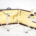 Детский 60 (20) Стол для массажа с вырезом для лица (люверс для лица) ирегулировкой высоты длина 1600мм