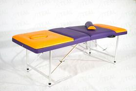 Макс 60+ (23) Складной массажный стол  с 2 регулируемыми спинками, регулировкой по высоте и отверстием для лица