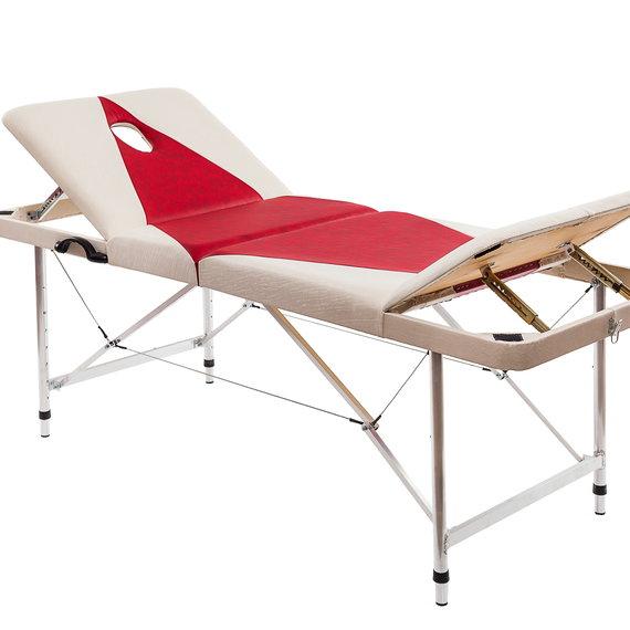Макс 70+ (26) Складной массажный стол с 2 регулируемыми спинками, регулировкой высоты и отверстием для лица