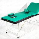 Профи 70+ Складной массажный стол с регулировкой высоты, регулируемой спинкой и отверстием для лица