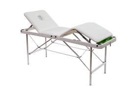 Складной массажный стол Люкс 70/75+ с подъемной спинкой, 4-секционный, с отверстием для лица