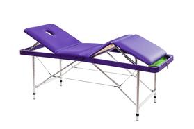 Складной массажный стол Люкс 70+ с регулировкой высоты, подъемной спинкой и подъёмом ног 4-секционный, с отверстием для лица