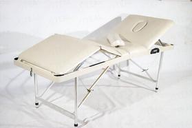 Люкс 60/70+ (35) Складной массажный стол с подъемной спинкой 4-секционный, с отверстием для лица